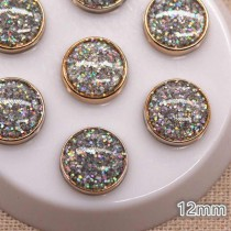 Decorative Glitter Button -...