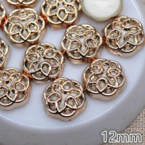 Decorative Gold Button - 12...
