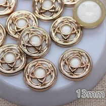 Decorative Gold Button - 13...