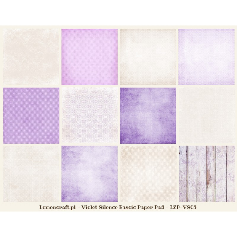 Scrapbooking Papers Violet Silence Basic 12x12 Craft Shop