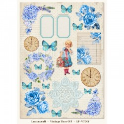 Scrapbooking Paper- Die Cut A4 Sheet 008