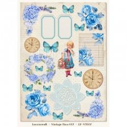 Scrapbooking Paper- Die Cut A4 Sheet  008