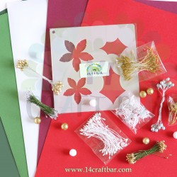 Poinsettia Kit with Stencil