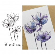 Silicone Stamp - ANEMONE