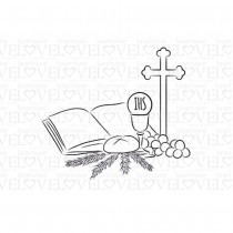 Rubber Stamp - First Communion