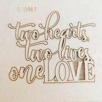 Chipboard - Two hearts...