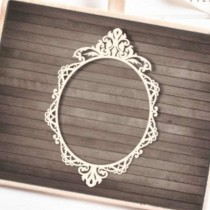 Chipboard - OVAL BAROQUE FRAME