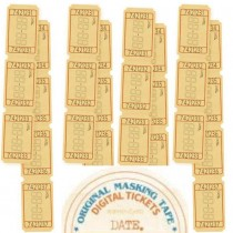Washi Tape - TICKET DATE -...