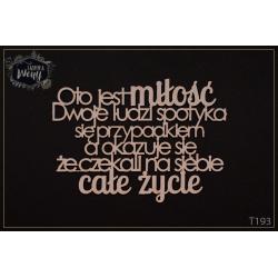Chipboard - Polish text -Oto jest miłość...