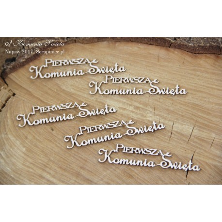 Chipboard - Polish text -Pierwsza Komunia Święta