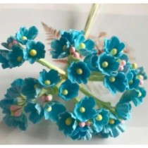 Small Flowers - TURQUOISE
