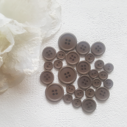 Button set 08 - DARK BROWN