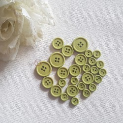 Button set 014-OLIVE
