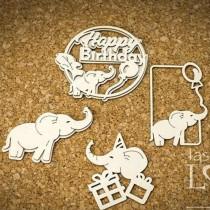 Chipboard - Elephants -...