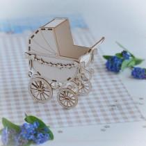 Chipboard 3D -  Baby pram...
