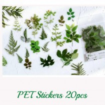 PET Stickers - GREEN LEAVES...