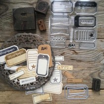 Cutting Dies + Stamps - TAGS