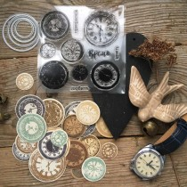 Cutting Dies + Stamps - CLOCKS