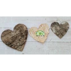 Birch Bark Heart - dark (small)