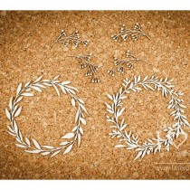 Chipboard - Two wreaths...