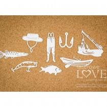 Chipboard - FISHING SET -...