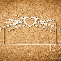 Chipboard - Sweet Lavender - FRAME WITH HEART