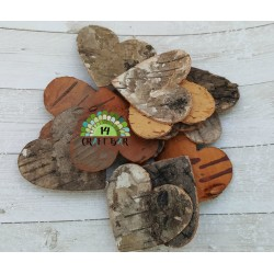 Birch Bark Heart - dark (small)