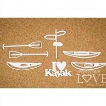 Chipboard - I LOVE KAYAK