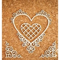 Chipboard - HEART WITH CORNERS