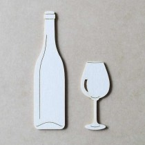 Chipboard - Bottle and glass