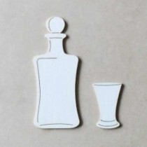 Chipboard - Carafe and glass