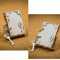 Chipboard 3D - Book of wishes