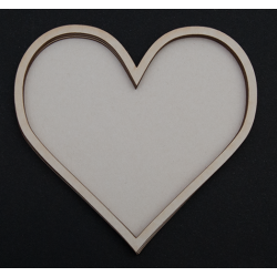 Chipboard - Shaker Cards MEDIUM HEART