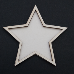 Chipboard - Shaker Cards BIG STAR