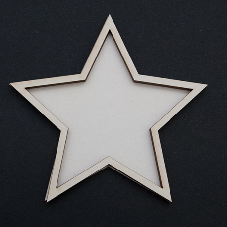 Chipboard - Shaker Cards BIG STAR