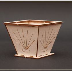 Chipboard - Decorative Flowerpot (3D)