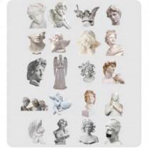 PET Stickers -  ANTIQUE 20pcs