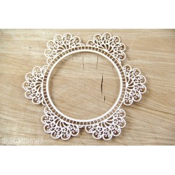 Chipboard - Doily Lace - Round Frame