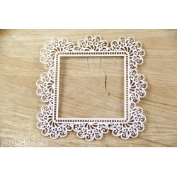 Chipboard - Doily Lace - Square Frame