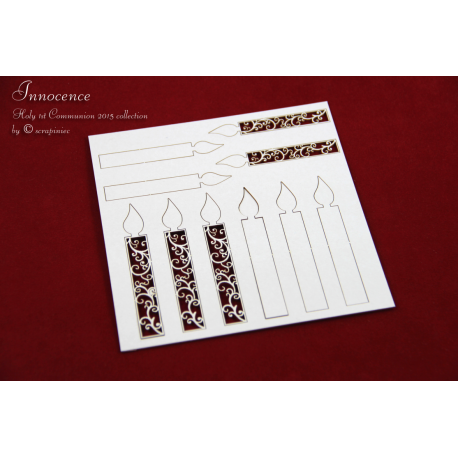 Chipboard - Decorative Candles