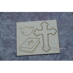Chipboard - Baptism/ 3 elements