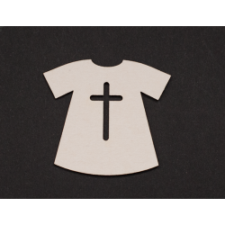 Chipboard - Baptism Robe/3pcs