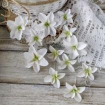 PASTEL FLOWERS - white -...