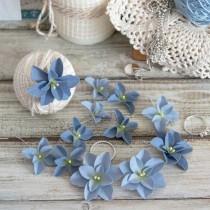 PASTEL FLOWERS - blue -...