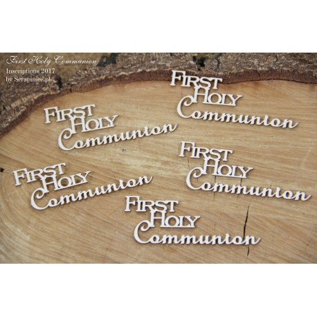 "Chipboard - text ""First  Holy Communion"""