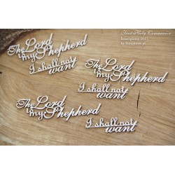 "Chipboard - set of words ""Lord  is my Shepherd"""
