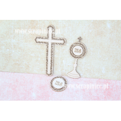 Chipboard - Set B: Cross / Monstrance / Ornamental Host