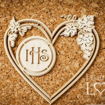 Chipboard - Heart with...
