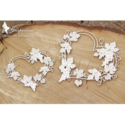 Chipboard - Grapevine - 2 hearts frames