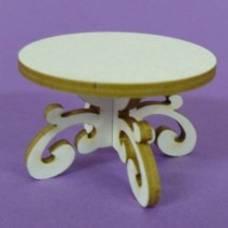 Chipboard -  Round table 3D